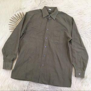 Ermenegildo Zegna Italian Button Down Dress Shirt